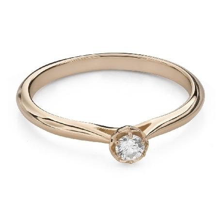 """Saderināšanās gredzens ar Briljantu """"Ziediņš 16"""""""