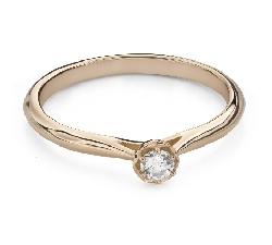 """Помолвочное кольцо с Бриллиантом """"Цветок 17"""""""