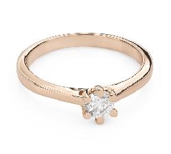 """Помолвочное кольцо с Бриллиантом """"Королева сердца 45"""""""