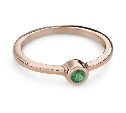 """Помолвочное кольцо с драгоценными камнями """"Изумруд 23"""""""
