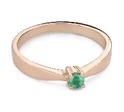 """Помолвочное кольцо с драгоценными камнями """"Изумруд 24"""""""