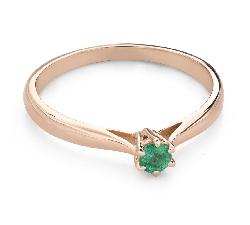 """Помолвочное кольцо с драгоценными камнями """"Изумруд 25"""""""