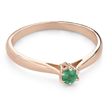 """Saderināšanās gredzens ar ar dārgakmeņiem """"Smaragds 25"""""""