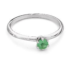 """Помолвочное кольцо с драгоценными камнями """"Изумруд 26"""""""
