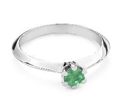 """Помолвочное кольцо с драгоценными камнями """"Изумруд 27"""""""