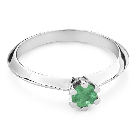 """Saderināšanās gredzens ar ar dārgakmeņiem """"Smaragds 27"""""""