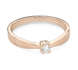 """Помолвочное кольцо с Бриллиантом """"Прочность 163"""""""