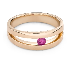 """Золотое кольцо с драгоценными камнями """"Рубин 46"""""""