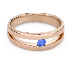 """Золотое кольцо с драгоценными камнями """"Сапфир 47"""""""