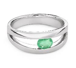 """Золотое кольцо с драгоценными камнями """"Изумруд 28"""""""