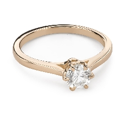 """Помолвочное кольцо с Бриллиантом """"Единственная 178"""""""