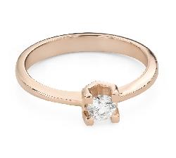 """Помолвочное кольцо с Бриллиантом """"Прочность 164"""""""