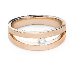 """Zelta gredzens ar briljantu """"Starp klintīm 78"""""""