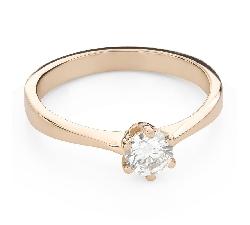 """Помолвочное кольцо с Бриллиантом """"Королева 141"""""""