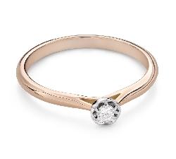 """Помолвочное кольцо с Бриллиантом """"Цветок 21"""""""