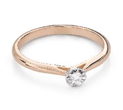 """Помолвочное кольцо с Бриллиантом """"Цветок 18"""""""