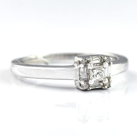 """Помолвочное кольцо с алмазами """"Жизнь"""""""