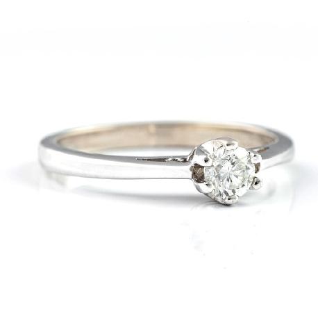 """Помолвочное кольцо с бриллиантом """"Единственная 18"""""""