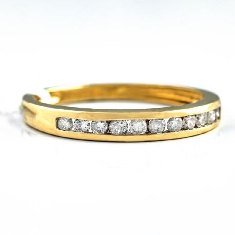 """Золотое кольцо """"Алмазная полоска 12"""""""