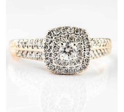 """Auksinis žiedas su Briliantais """"Karūna 2"""""""