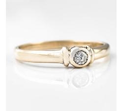 """Sužadėtuvių žiedas su Briliantu """"Tvirtybė III"""""""