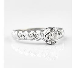 """Auksinis žiedas su Briliantais """"Energija"""""""