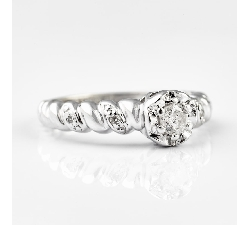 """Zelta gredzens ar briljantiem """"Dzīve 2"""""""
