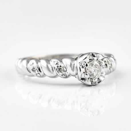 """Золотое кольцо с бриллиантами """"Жизнь 2"""""""