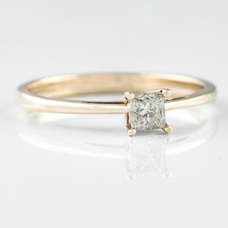 """Saderināšanās gredzens ar dimantu """"Princese"""""""