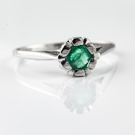 """Saderināšanās gredzens """"Smaragds"""""""