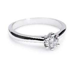 """Помолвочное кольцо с бриллиантом """"Королева сердца 5"""""""
