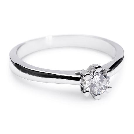 """Saderināšanās gredzens ar briljantu """"Sirds karaliene"""""""
