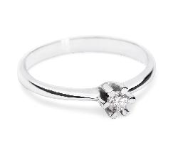 """Помолвочное кольцо с бриллиантом """"Классика 8"""""""