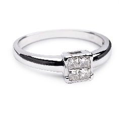 """Помолвочное кольцо с алмазами """"Принцессы 11"""""""