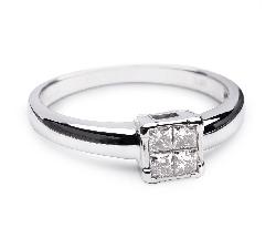 """Saderināšanās gredzens ar dimantiem """"Princeses 11"""""""