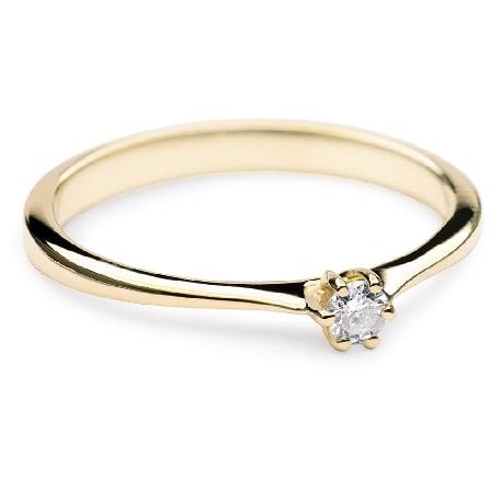 """Помолвочное кольцо с бриллиантом """"Чистая 3"""""""