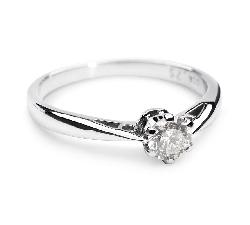 """Sužadėtuvių žiedas su Briliantu """"Vienintelė 28"""""""