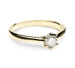 """Sužadėtuvių žiedas su Briliantu """"Širdies Karalienė 7"""""""