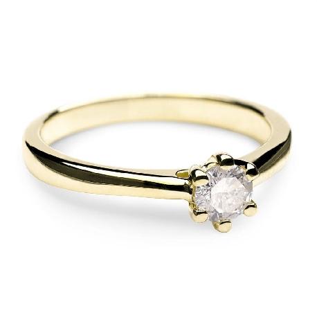 """Помолвочное кольцо с бриллиантом """"Королева сердца 7"""""""