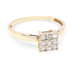 "Золотое кольцо с бриллиантами ""Принцесса II"""