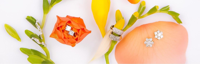 Серьги с алмазами
