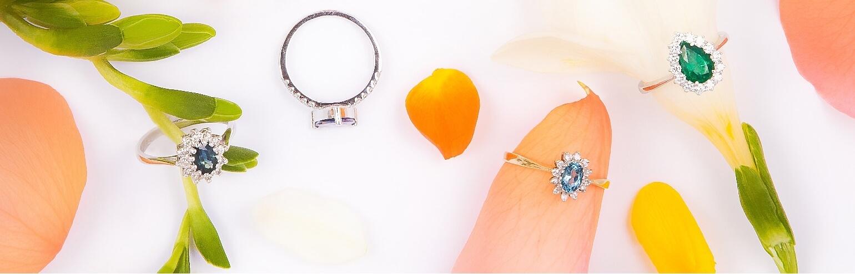 Обручальные кольца с драгоценными камнями (алмазами)